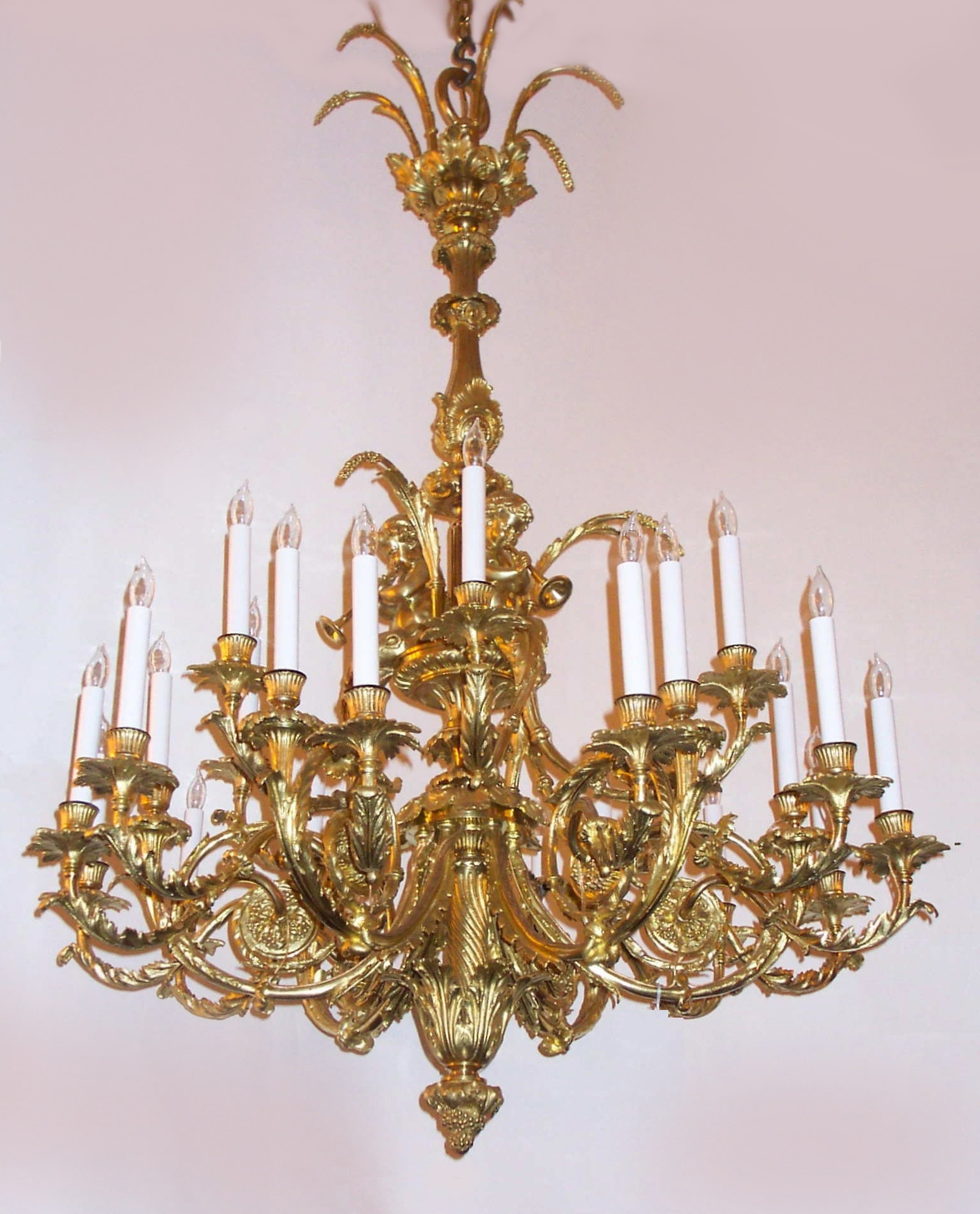 Well Known French Gold Chandelier With Antique French Louis 16Th Gold Bronze Marie Antoinette Chandelier (View 3 of 15)