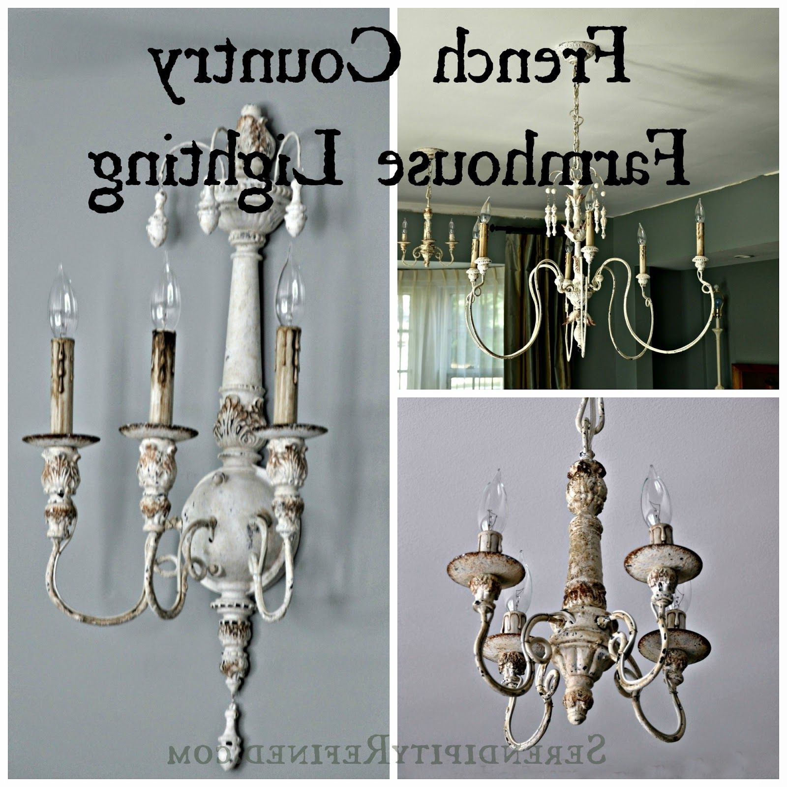 Well Known French Wooden Chandelier With French Country Farmhouse Style Chandeliers And Sconces With (View 14 of 15)