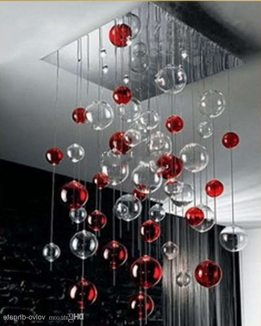 Well Known Glass Ball Light Fixture (21) In Modern Red Chandelier (View 14 of 15)