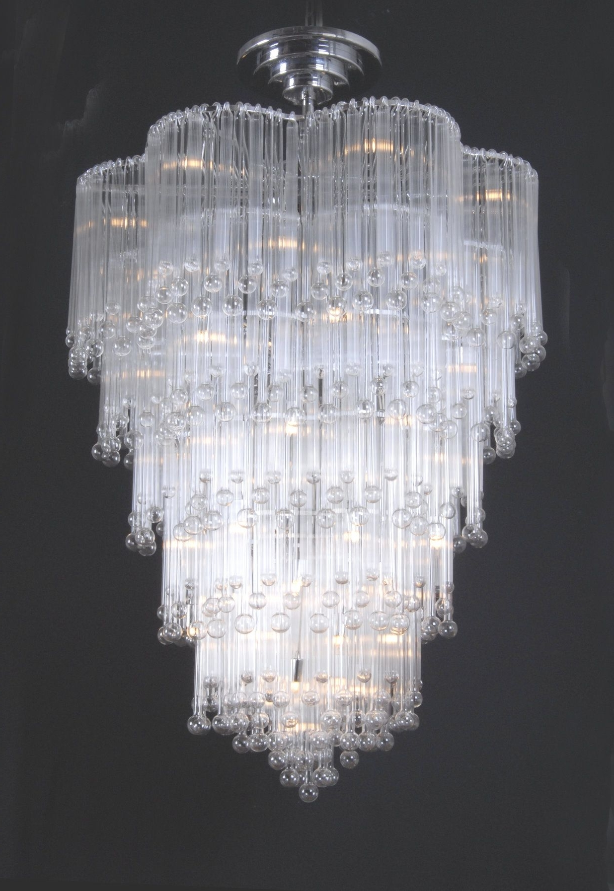 Well Known Glass Chandeliers For Chic Chandeliers (View 3 of 15)