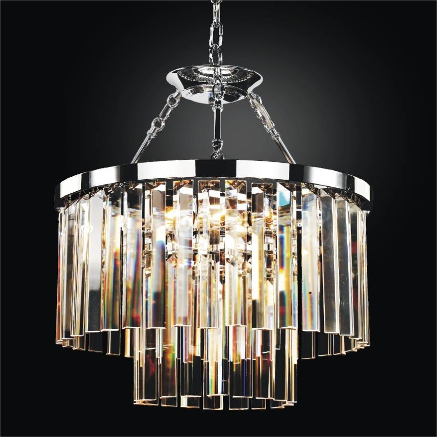 Well Known Glass Chandeliers Regarding Modern Glass Pendant Chandelier To Semi Flush Mount (View 11 of 15)