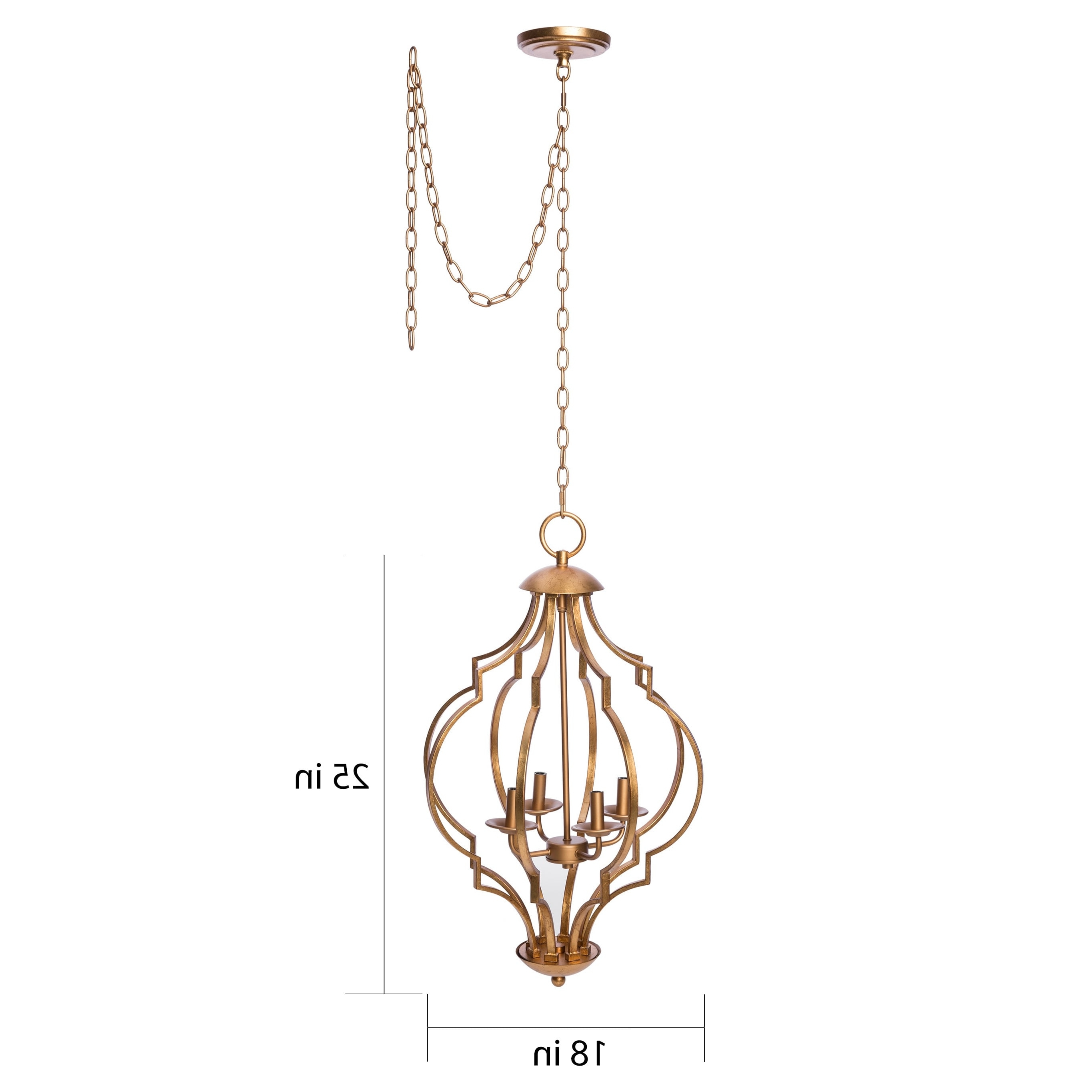 Well Known Gold Leaf Chandelier Regarding Gold Leaf Trellis 4 Light Chandelier – Free Shipping Today (View 15 of 15)