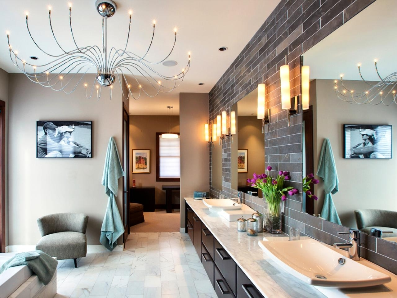 Well Known Modern Bathroom Chandelier Lighting With Regard To Bathroom Lighting Fixtures (View 7 of 15)