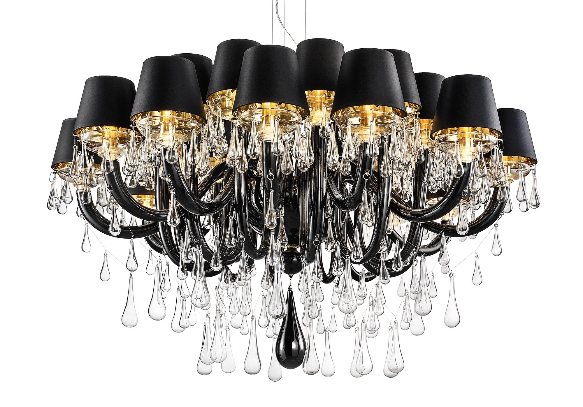 Well Known Modern Black Chandelier Throughout Modern Murano Chandelier Dmgouttes24K – Murano Lighting (View 15 of 15)
