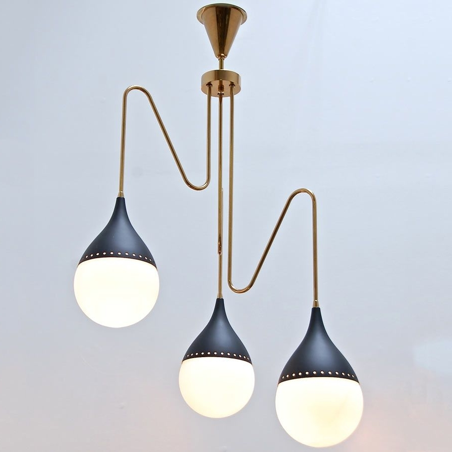 Well Known Modern Italian Chandeliers For 1950S Modern Italian Chandelier (View 3 of 15)