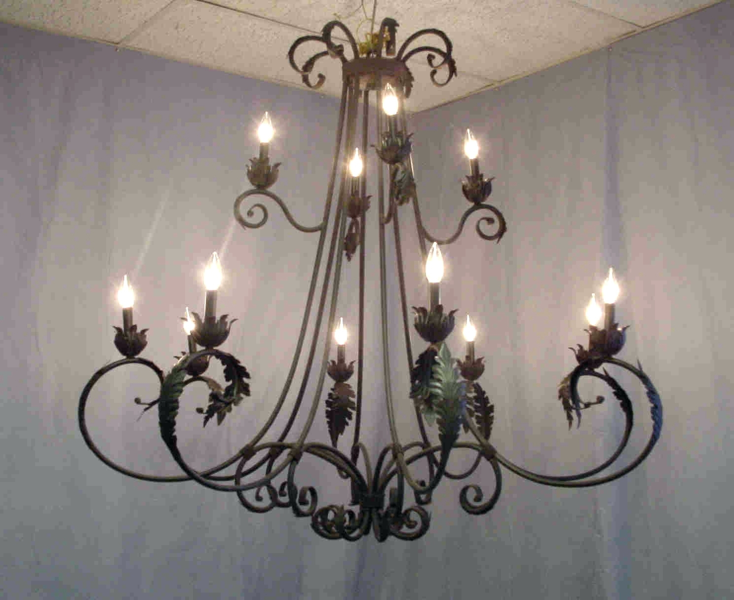 Well Known Modern Wrought Iron Chandeliers Regarding Chandeliers Design : Awesome Modern Round Iron Chandelier Wrought (View 13 of 15)