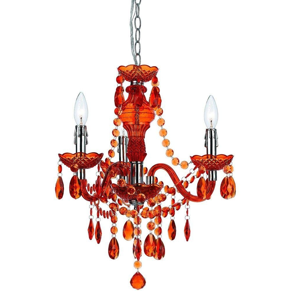 Well Known Red Chandeliers For Af Lighting Fulton 3 Light Orange Mini Chandelier 8500 3H – The Home (View 4 of 15)