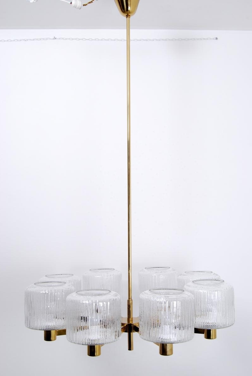 Well Known Scandinavian Chandeliers For Vintage Large Scandinavian Chandelier In Brass For Sale At Pamono (View 15 of 15)