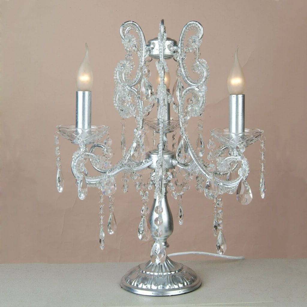Well Known Small Chandelier Table Lamps For Lighting: Enticing Small Chandelier Table Lamp With Aluminum Base (View 5 of 15)