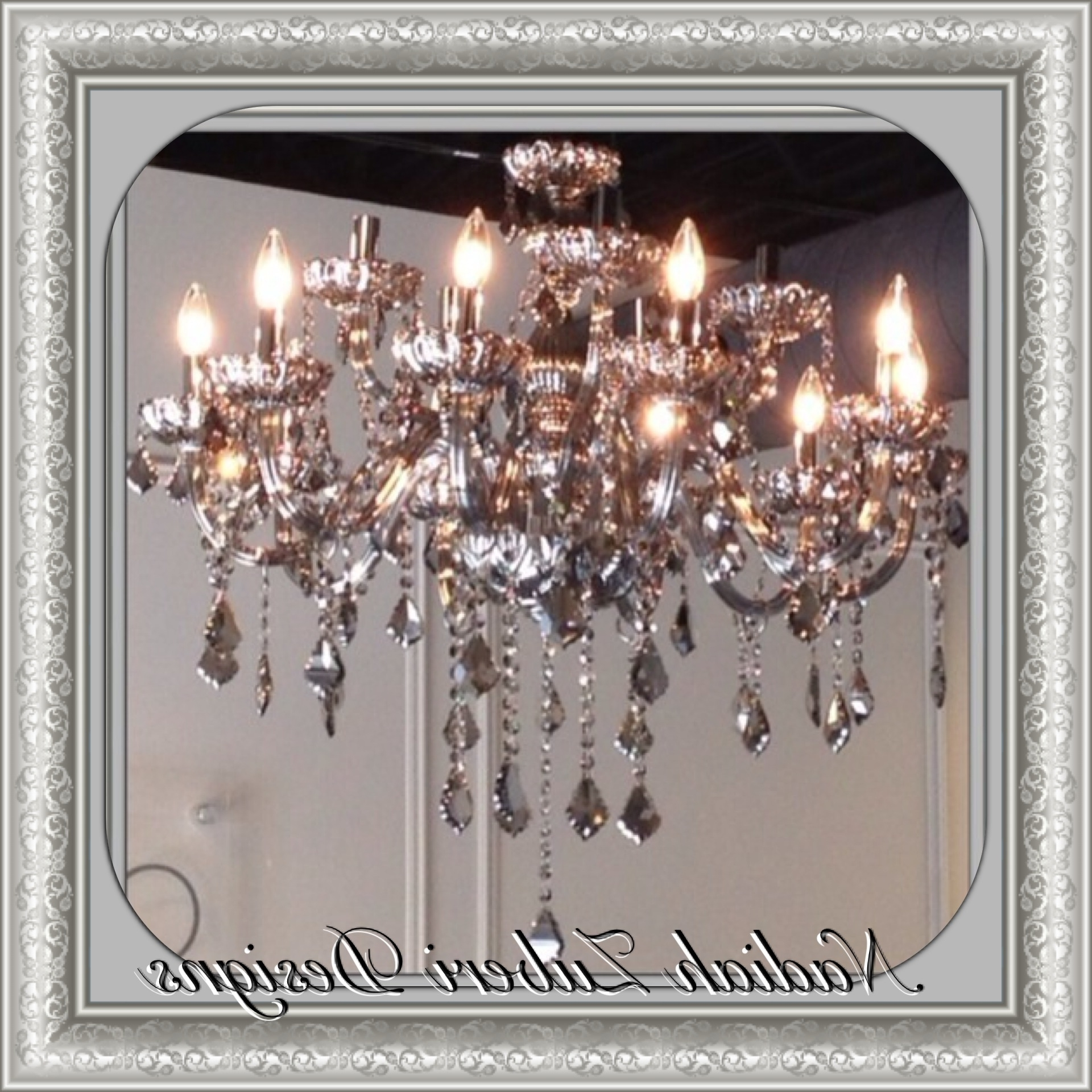 Well Known Smoked Grey Crystal Chandelier – Nadiah Zuberi Designs – Montreal Throughout Grey Crystal Chandelier (View 15 of 15)