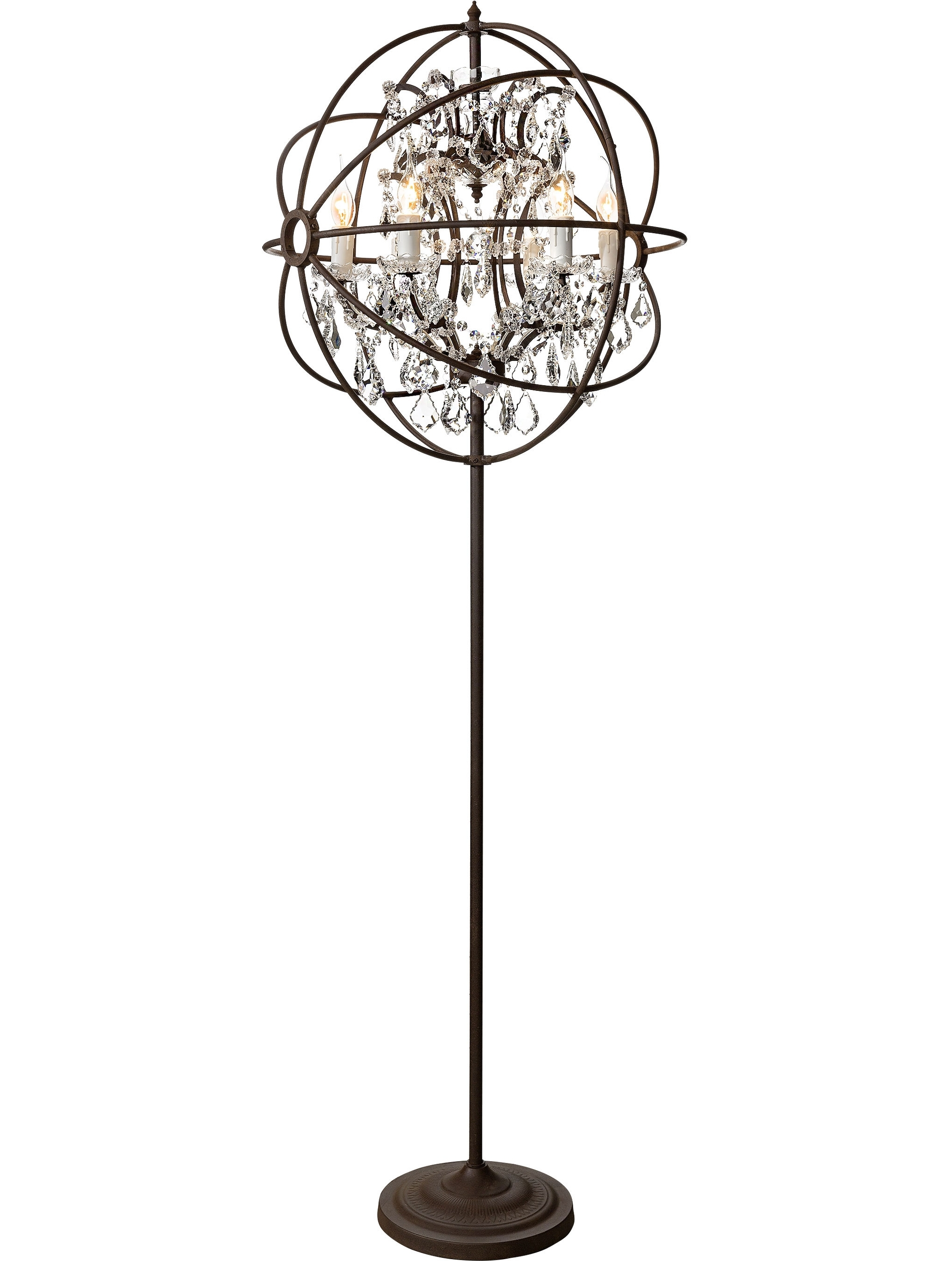 Well Known Tall Standing Chandelier Lamps Throughout Standing Chandelier Lamp Chandelieramp Shades Glass Non Clip On Tall (View 8 of 15)