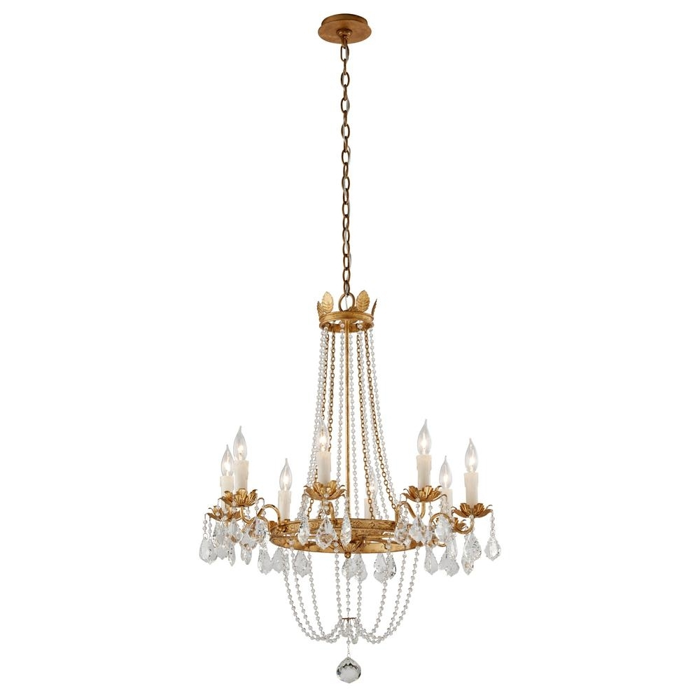 Well Known Troy Lighting Viola 8 Light Distressed Gold Leaf Chandelier F5366 In Gold Leaf Chandelier (View 14 of 15)