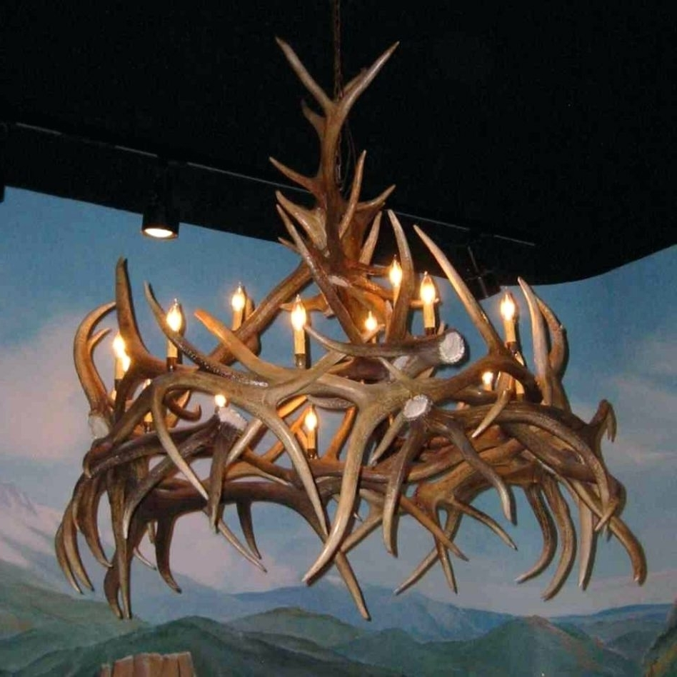 Well Known Turquoise Antler Chandeliers Regarding Chandeliers Design : Fabulous Unique Antler Chandelier Wonderful (View 14 of 15)