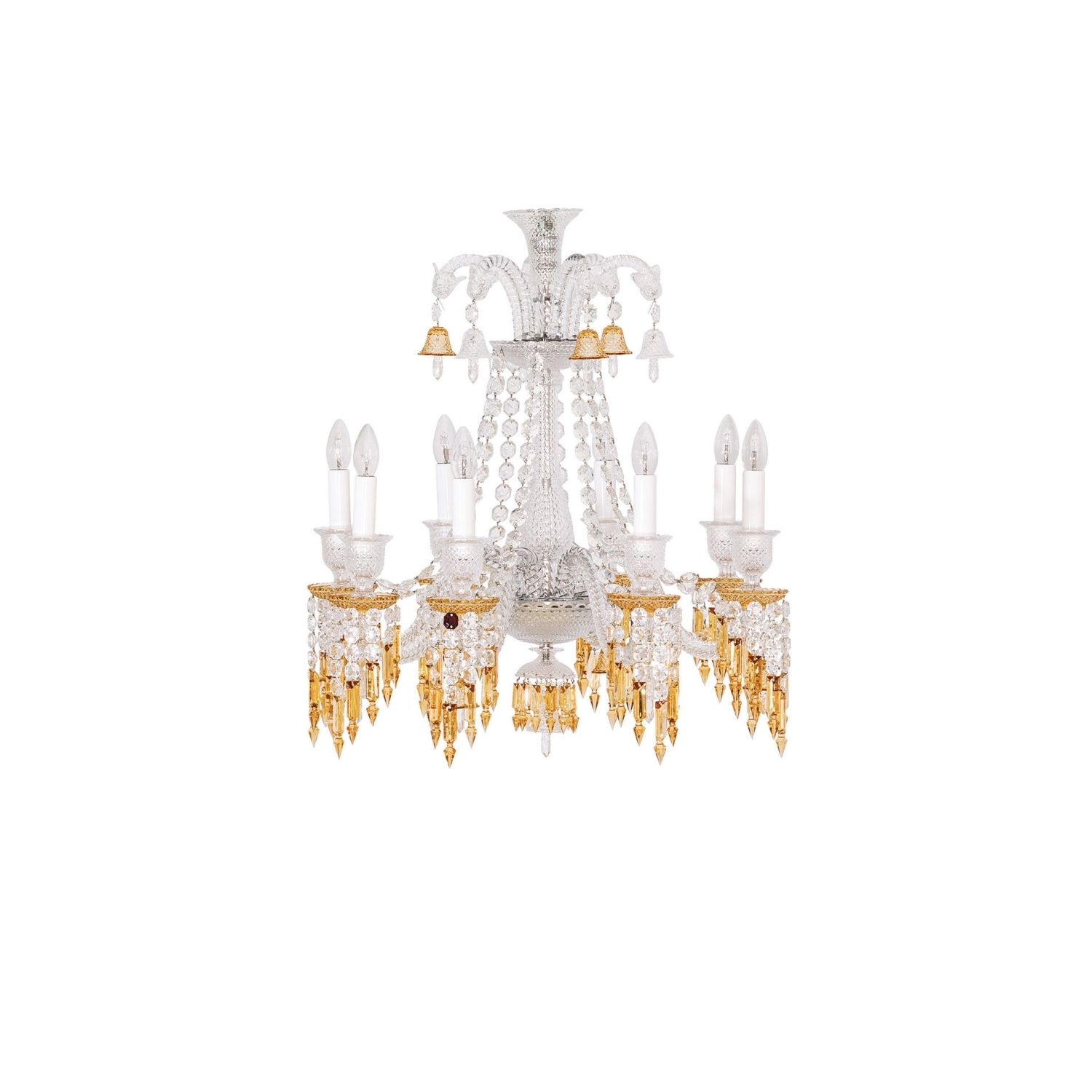 Well Liked Chandelier 8L Baccarat Zenith Charleston 2809404 Regarding Short Chandelier Lights (View 13 of 15)