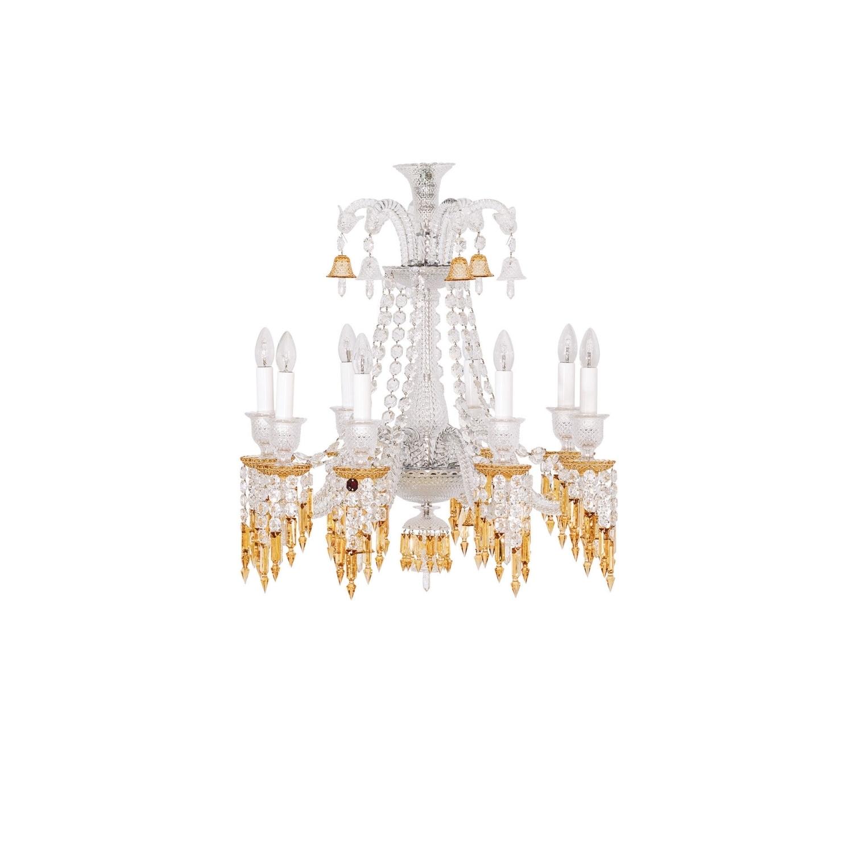 Well Liked Chandelier 8L Baccarat Zenith Charleston 2809404 Regarding Short Chandelier Lights (View 13 of 15)