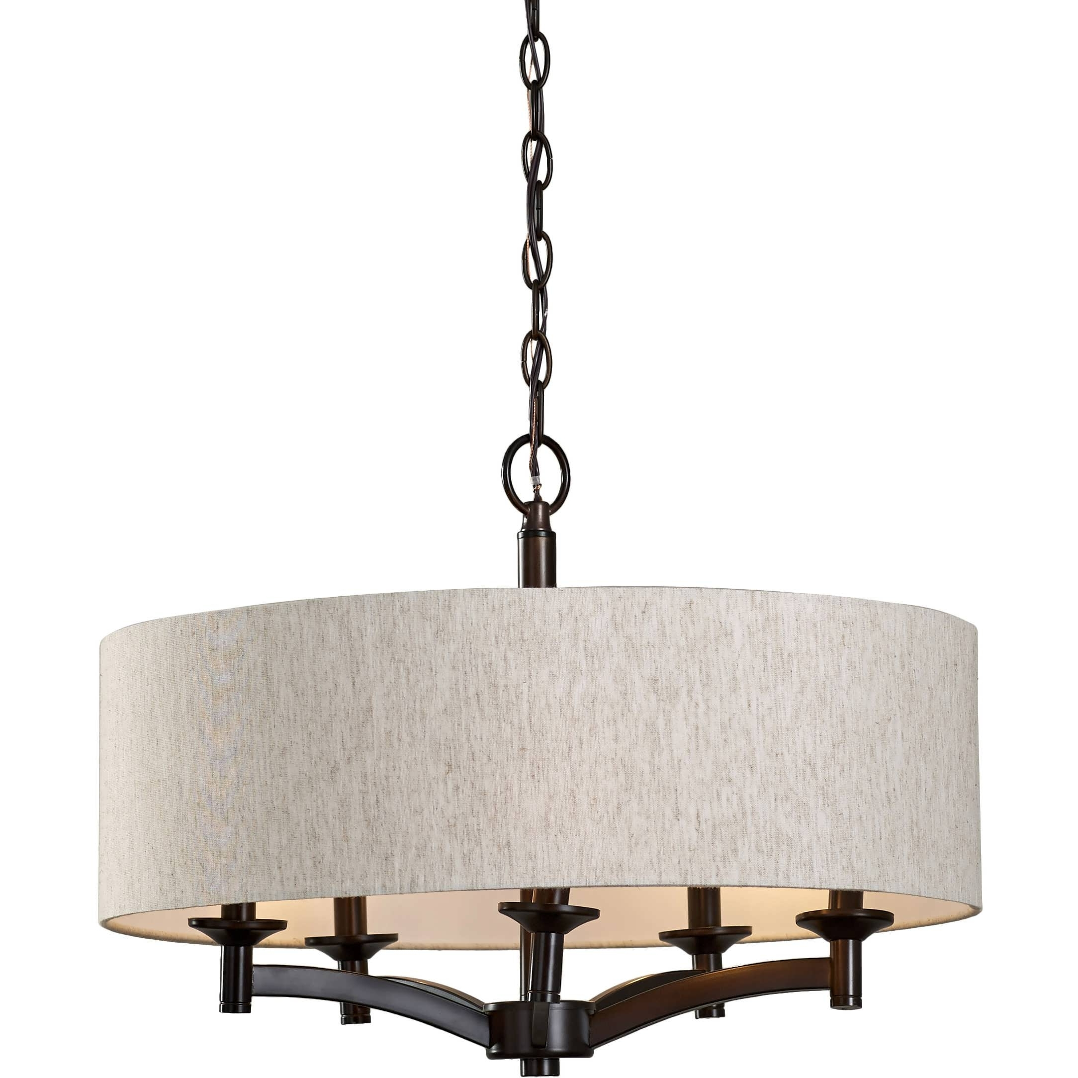 Well Liked Chandeliers Design : Marvelous Cool Chandeliers Large Drum In Fabric Drum Shade Chandeliers (View 9 of 15)