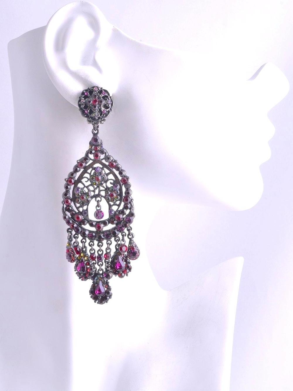 Well Liked Fuschia Chandelier Earrings – Iglab Inside Fuschia Chandelier (View 7 of 15)