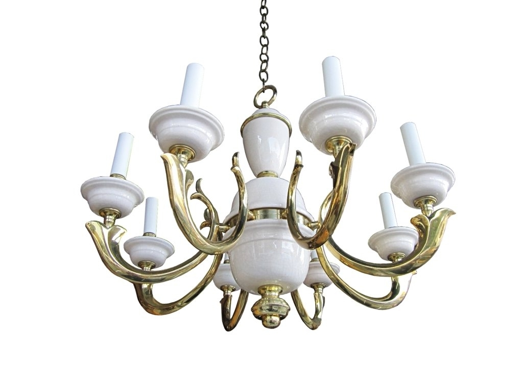 Well Liked Georgian Art Lighting Brass And Porcelain, Eight Arm Chandelier For Regarding Georgian Chandelier (View 14 of 15)