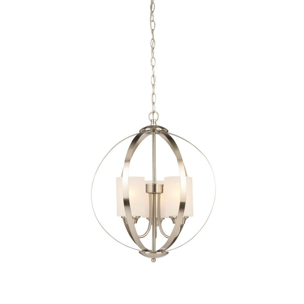 Well Liked Globe – Chandeliers – Lighting – The Home Depot Throughout Globe Chandeliers (View 4 of 15)