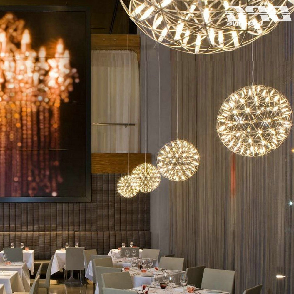 Well Liked Led Creative Personality Restaurant Chandelier Led Chandelier Ball In Restaurant Chandelier (View 9 of 15)