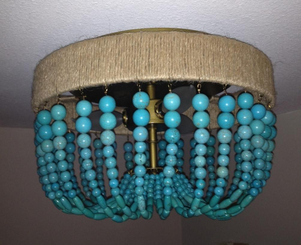 Well Liked Lighting ~ Chandeliers ~ Turquoise Beaded Chandelier Light Fixture For Turquoise Beaded Chandelier Light Fixtures (View 14 of 15)