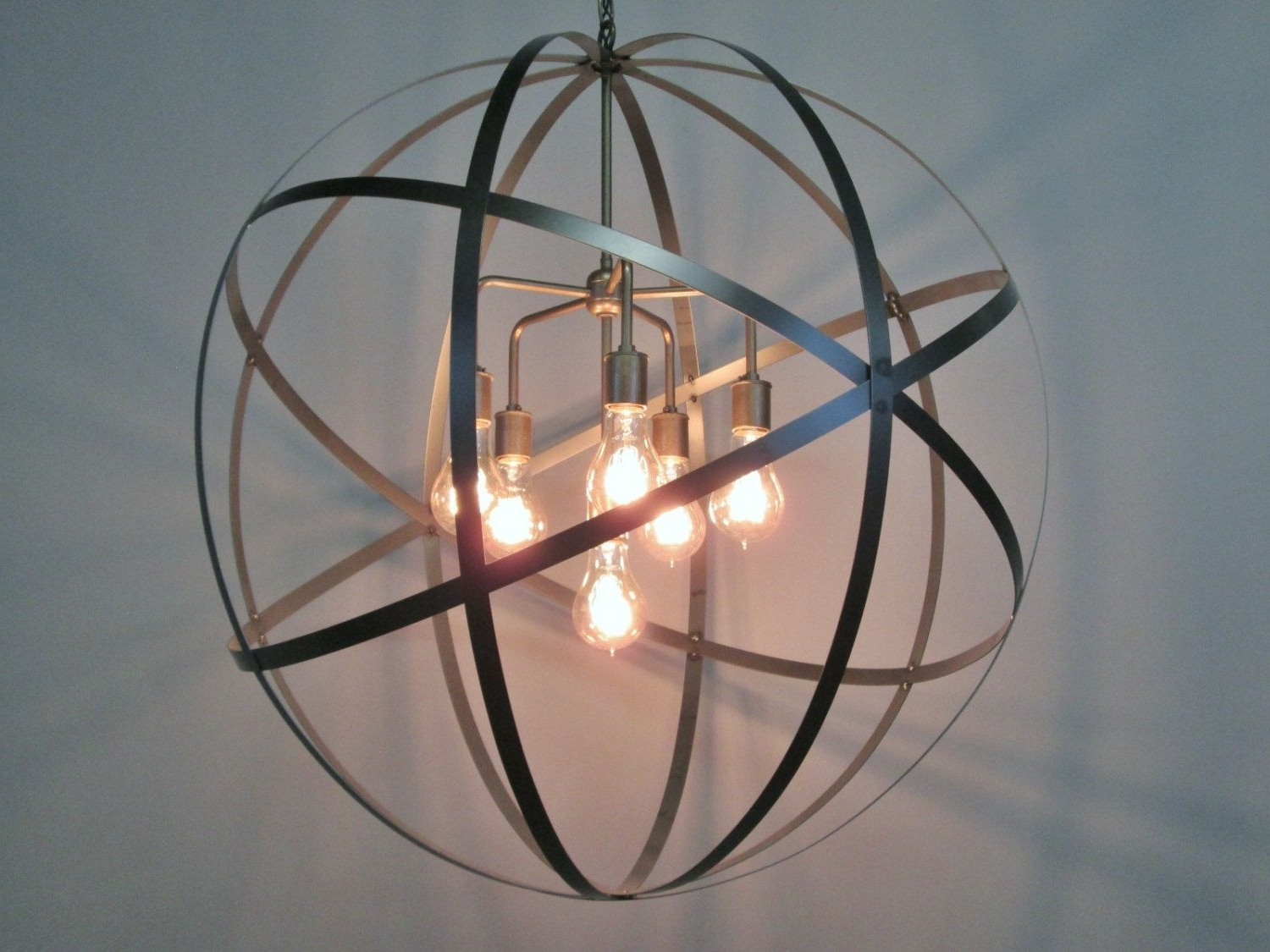 Well Liked Orb Chandelier With Regard To Beautiful Orb Chandelier For Home Decor Lights Ideas: Industrial  (View 13 of 15)