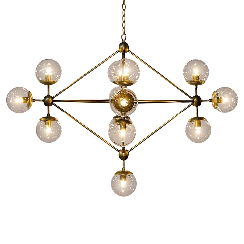 Well Liked Orion Modern Antique Brass Metal Constellation Orb Chandelier With Orb Chandelier (View 14 of 15)