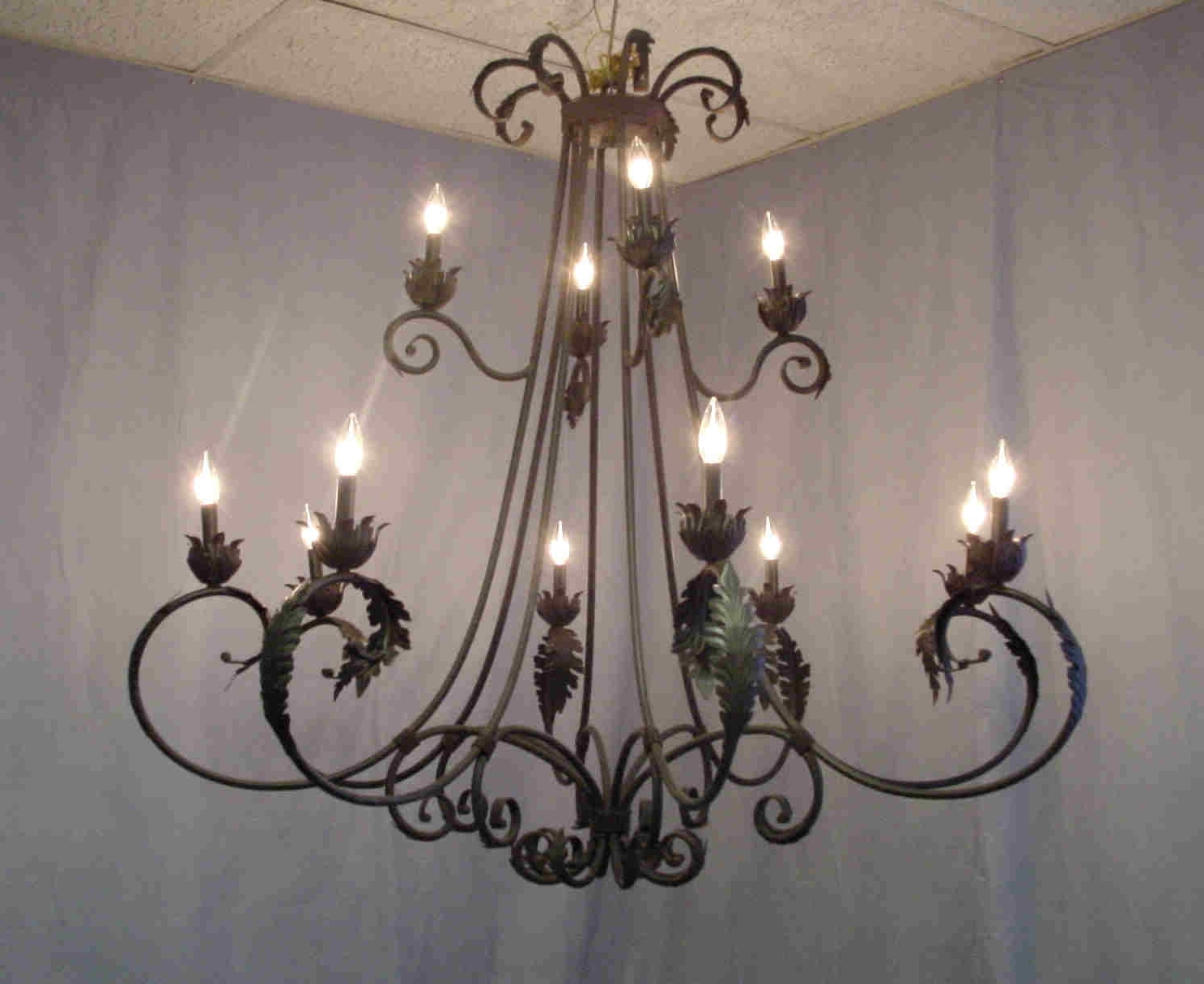 Well Liked Rustic Iron Chandelier Design Ideas — Fabrizio Design : Ideas For Pertaining To Vintage Wrought Iron Chandelier (View 2 of 15)