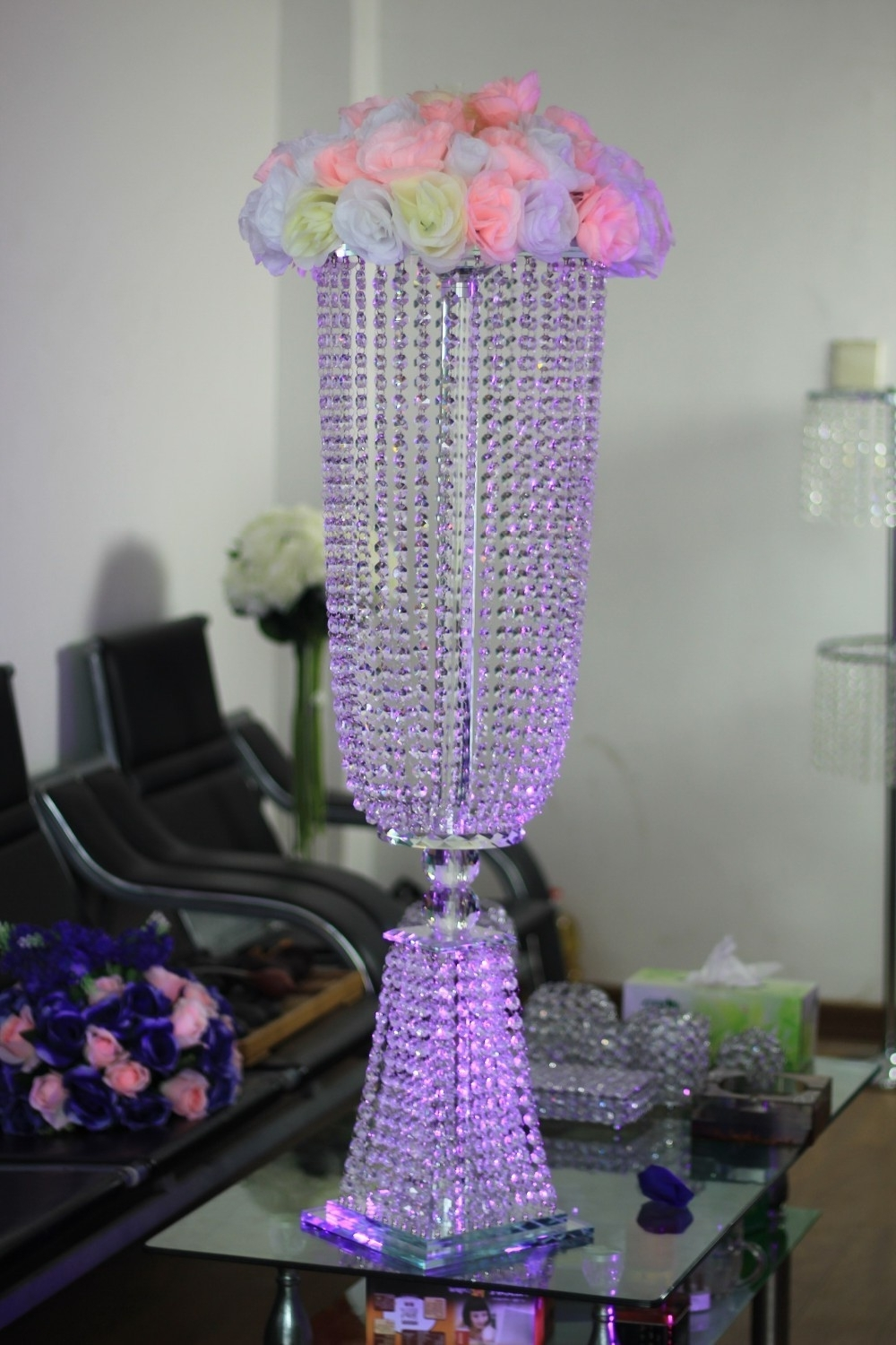 Well Liked Table Chandeliers With Regard To Buy Table Stand Chandeliers For Weddings And Get Free Shipping On (View 13 of 15)