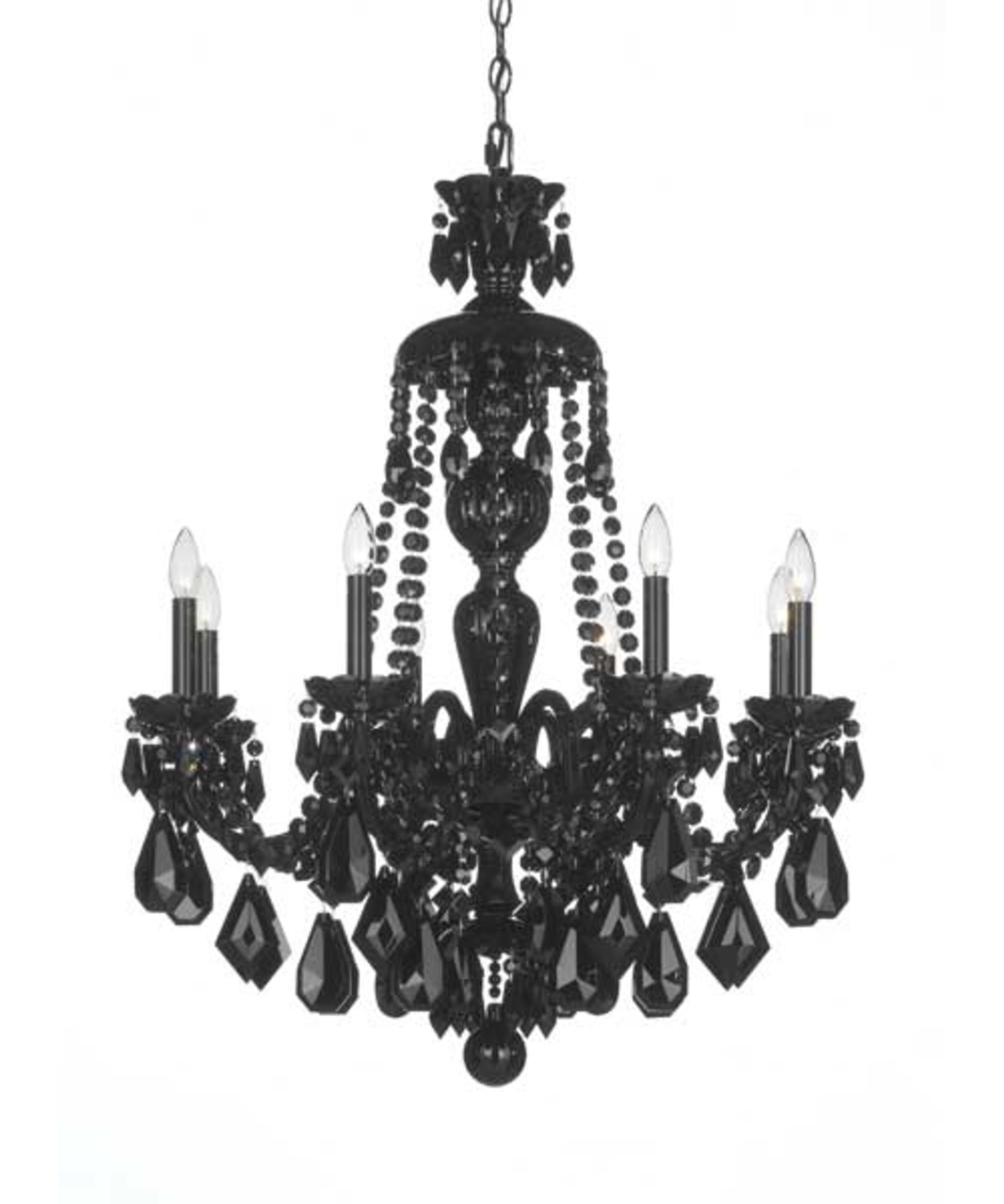 Well Liked Traditional Crystal Chandeliers With Regard To Schonbek 5737Bk Hamilton Black 28 Inch Wide 8 Light Chandelier (View 12 of 15)