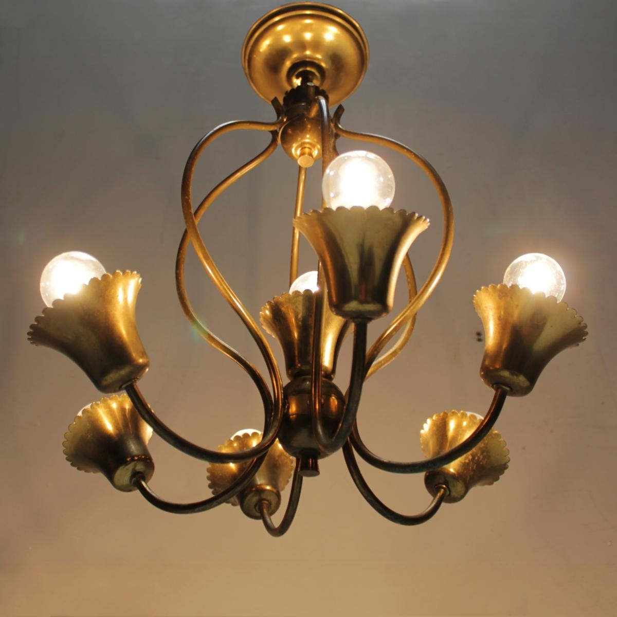 Well Liked Vintage Italian Chandelier Pertaining To Vintage Italian Chandelier For Sale At Pamono (View 5 of 15)
