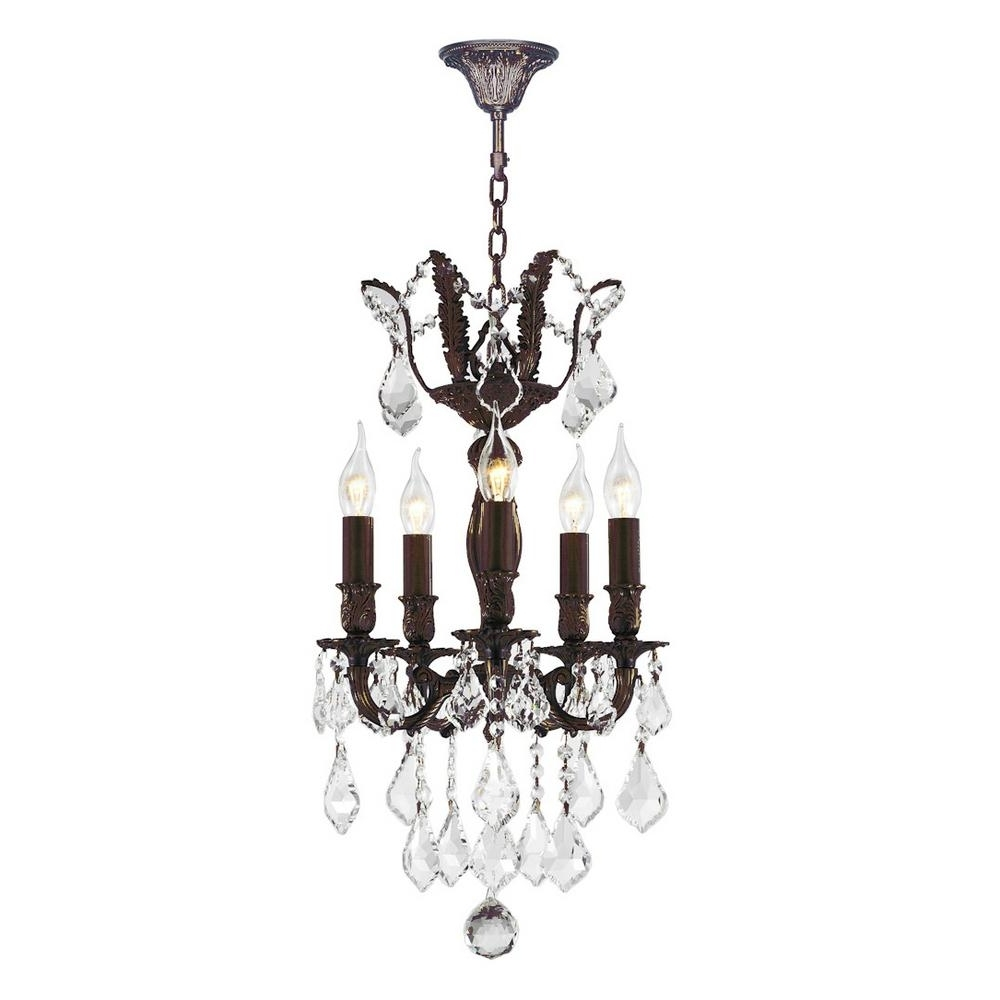 Well Liked Worldwide Lighting Versailles 5 Light Flemish Brass Chandelier With Throughout Flemish Brass Chandeliers (View 15 of 15)