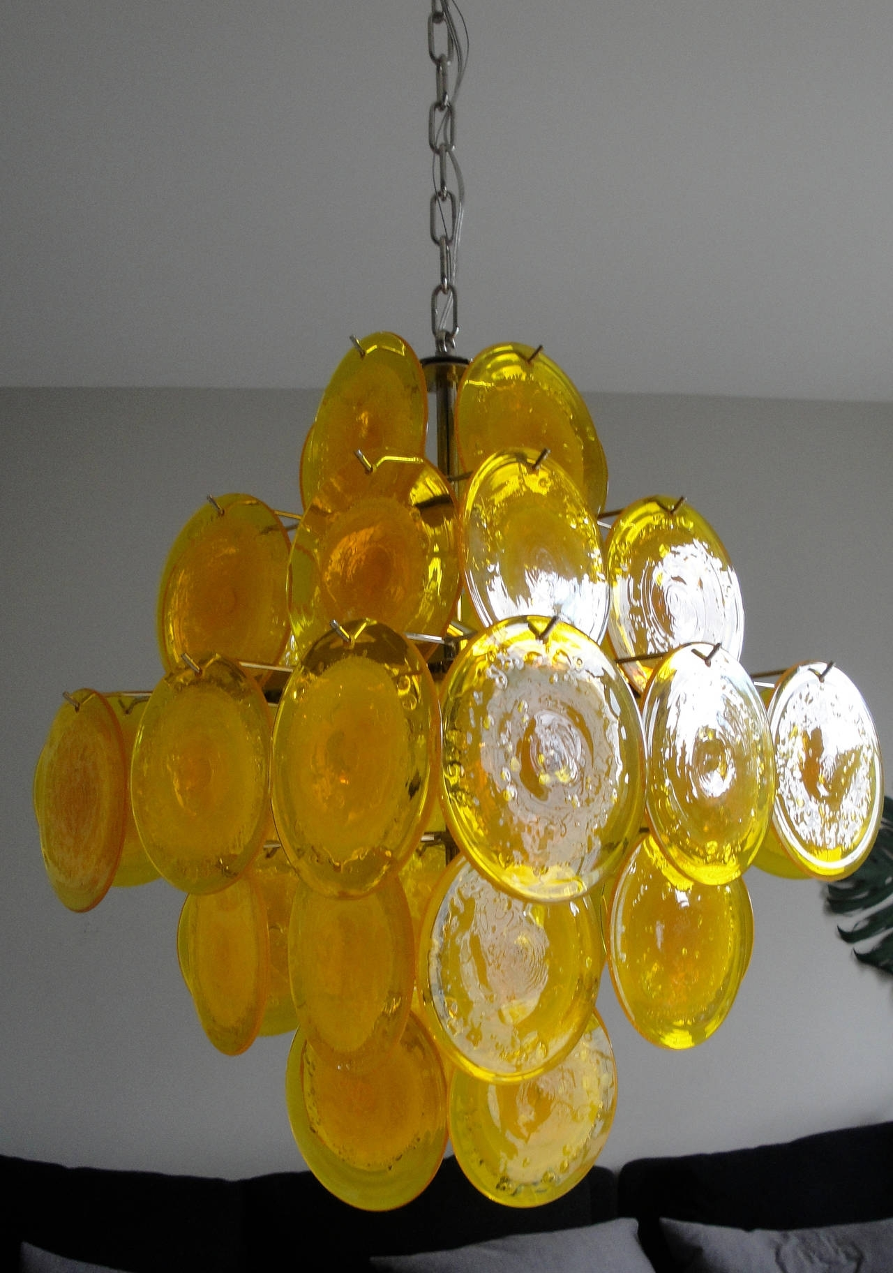 Well Liked Yellow Murano Glass Chandelier At 1Stdibs Pertaining To Glass Chandelier (View 13 of 15)