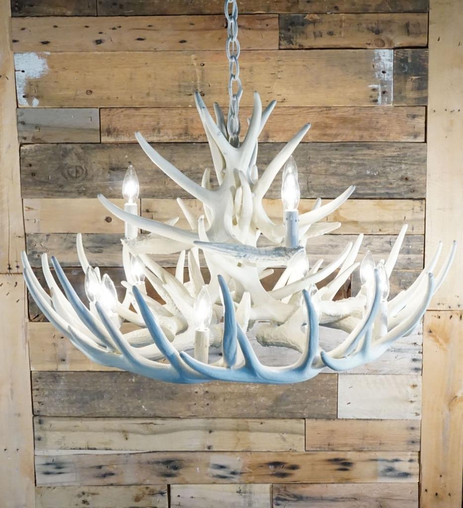 White Antler Chandelier Intended For Trendy Pure White Antler Lights (View 15 of 15)