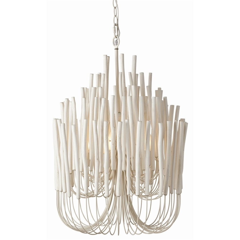 White Chandeliers Pertaining To Best And Newest Tilda White Modern Chandelier (View 12 of 15)