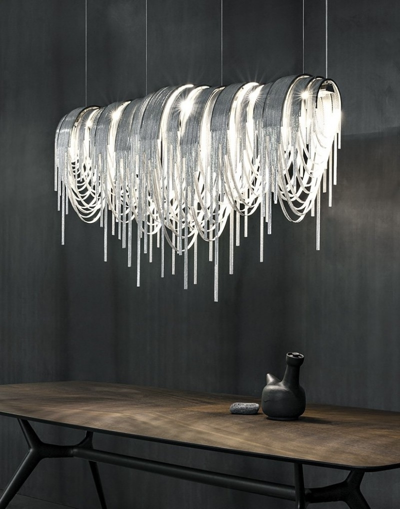 White Contemporary Chandelier Inside Current Lighting : Chandelier For Small Dining Room Modern White Chandelier (View 13 of 15)