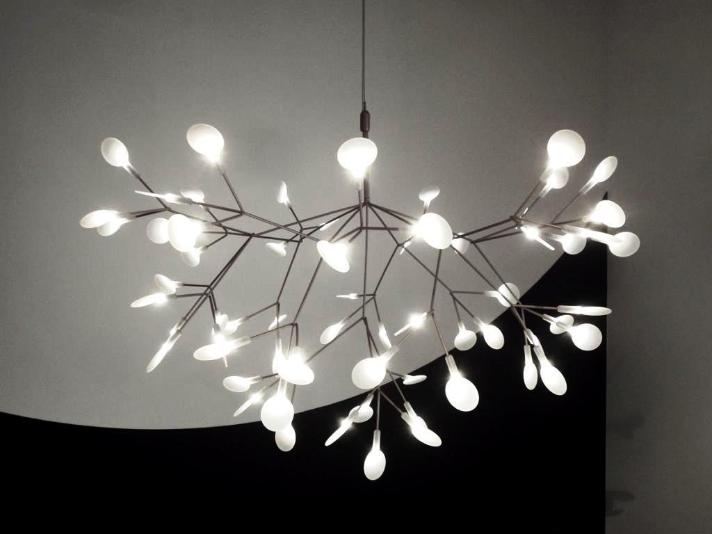 White Contemporary Chandelier Pertaining To Preferred Led Contemporary Chandelier (Gallery 5 of 15)