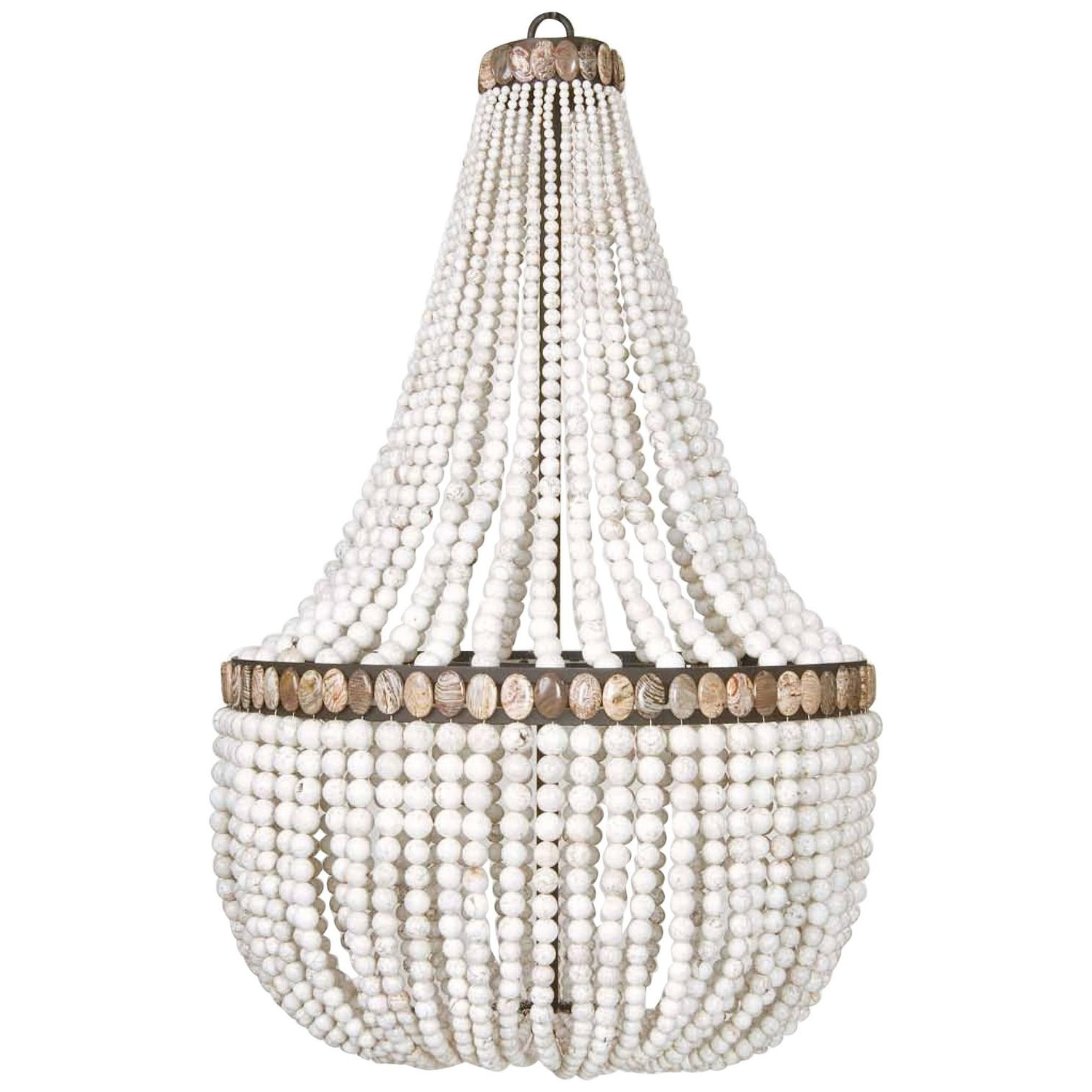 White Turquoise Empire Chandeliermarjorie Skouras At 1Stdibs Within Well Known Turquoise Stone Chandelier Lighting (View 10 of 15)