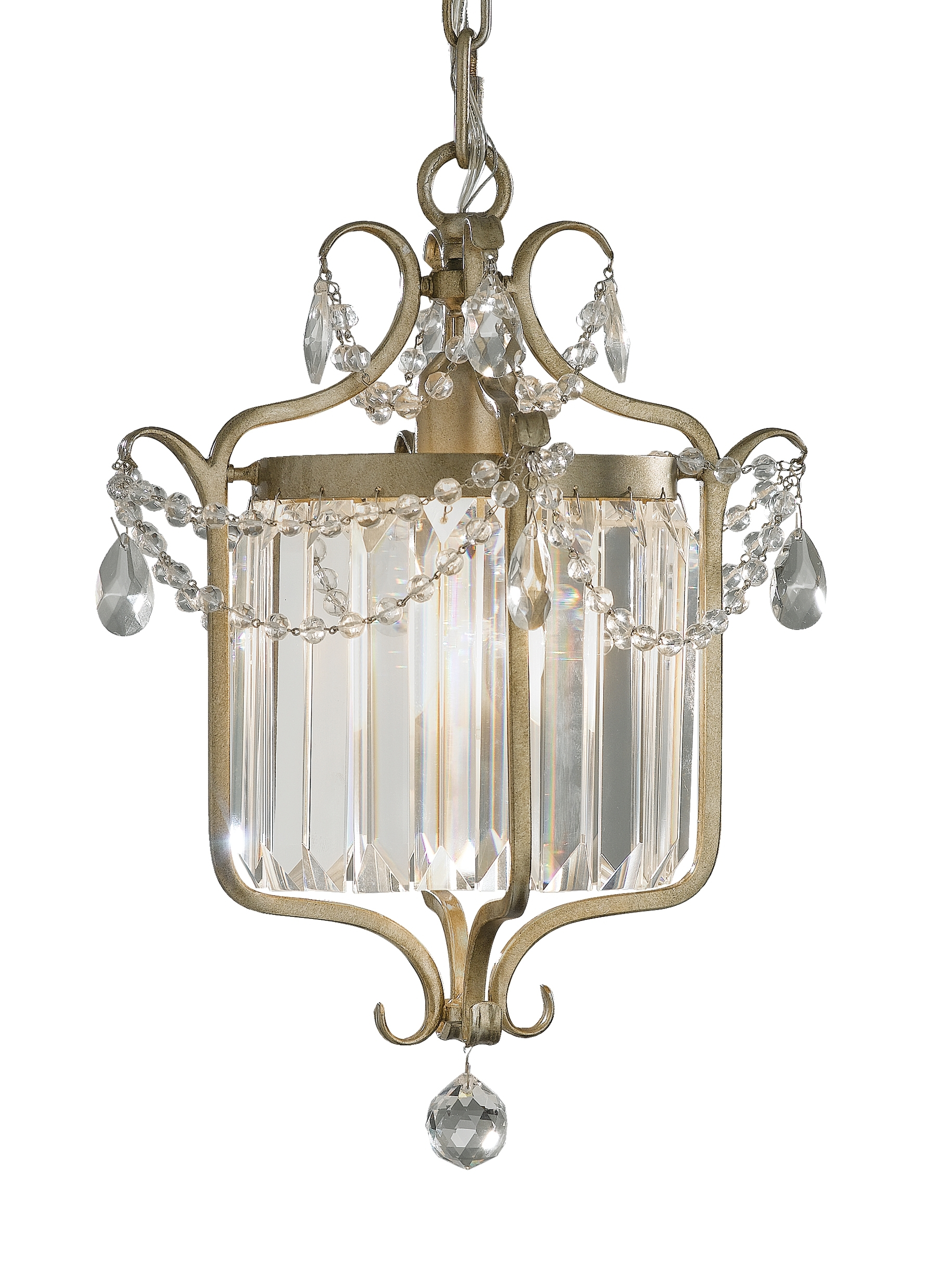 Widely Used F2473/1Gs,1 – Light Mini Duo Chandelier,gilded Silver For Gianna Mini Chandeliers (View 4 of 15)