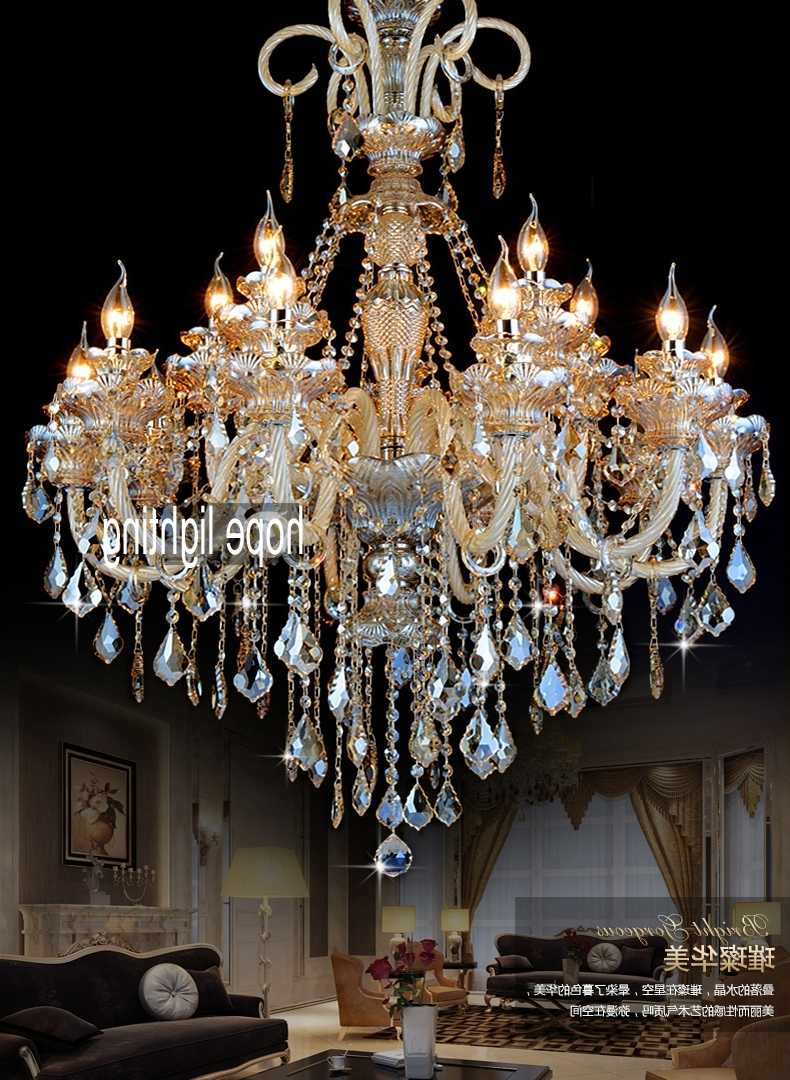 Widely Used Glass Chandeliers For Entranceway Door Lighting Hotel Long Chandeliers Lighting Gold (View 13 of 15)
