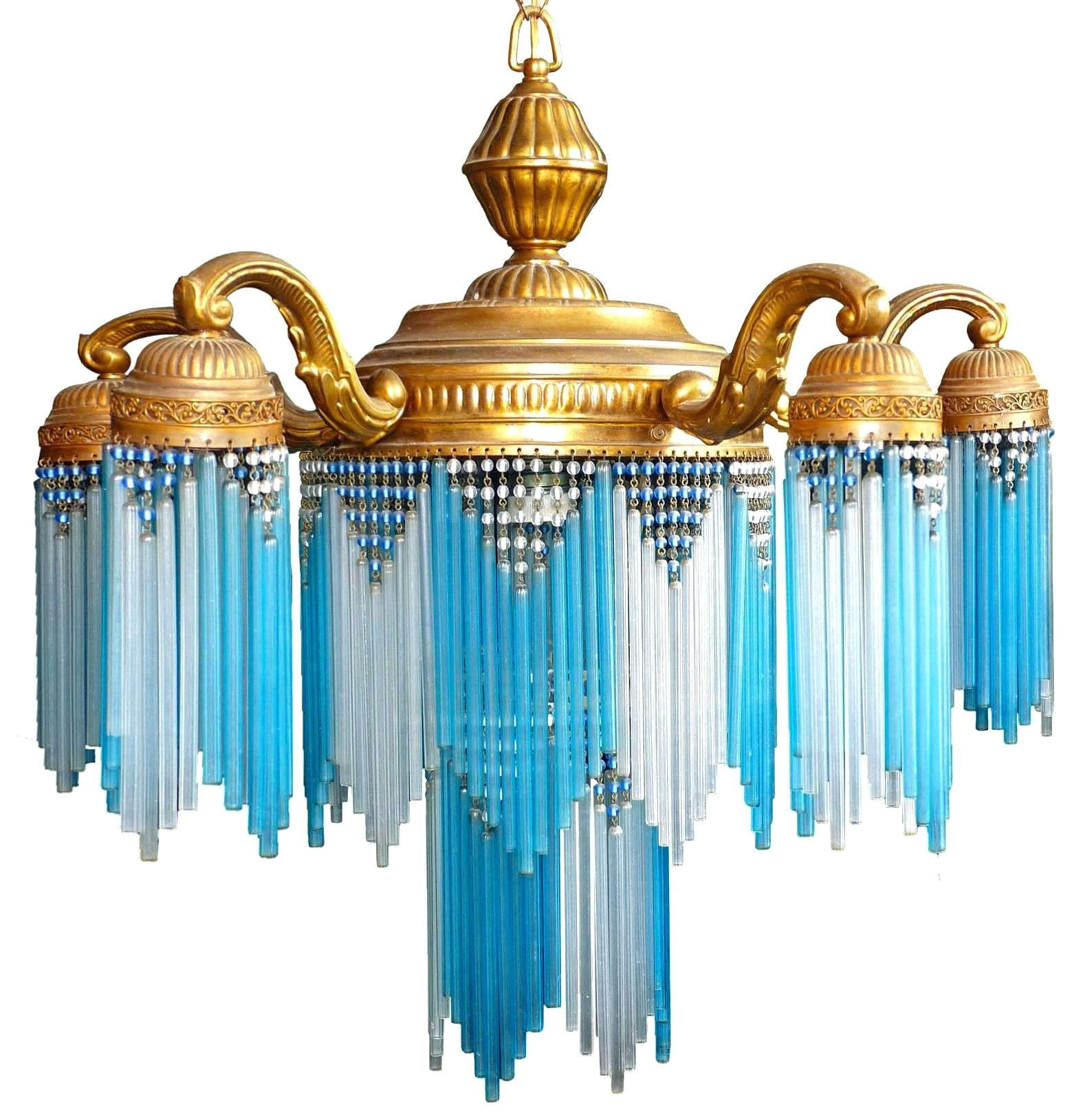 Widely used Lighting : Regina Andrew Turquoise Chandelier Light Wood Diy Small regarding Small Turquoise Beaded Chandeliers