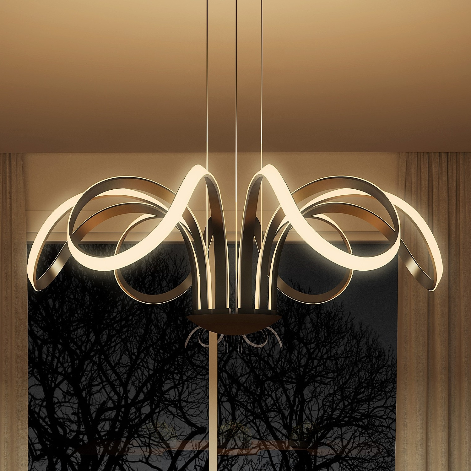 Widely Used Modern Chandelier Lighting With Capella Vmc32420Bl Modern Flower Pedal Led Chandeliervonn (View 8 of 15)