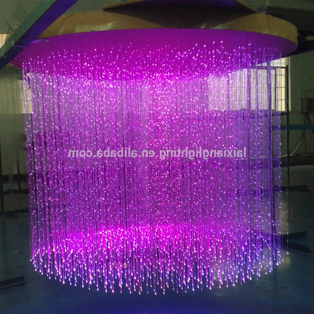 Widely Used Purple Crystal Chandeliers Throughout Made From Fiber Optic Cable Purple Crystal Chandelier,can Form Any (View 15 of 15)