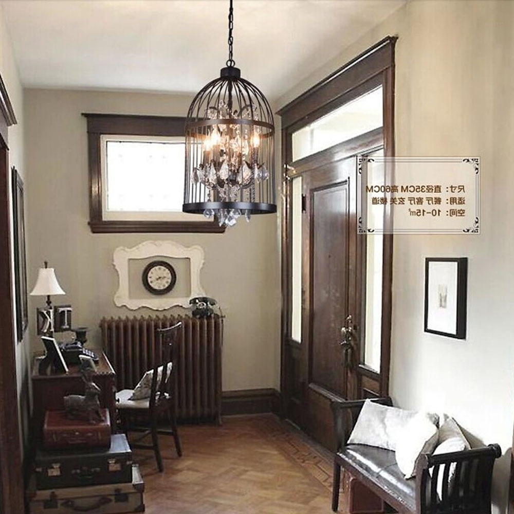 Widely Used Restaurant Chandelier In Iron Personality Bird Cage Bedroom Living Room Restaurant (View 12 of 15)