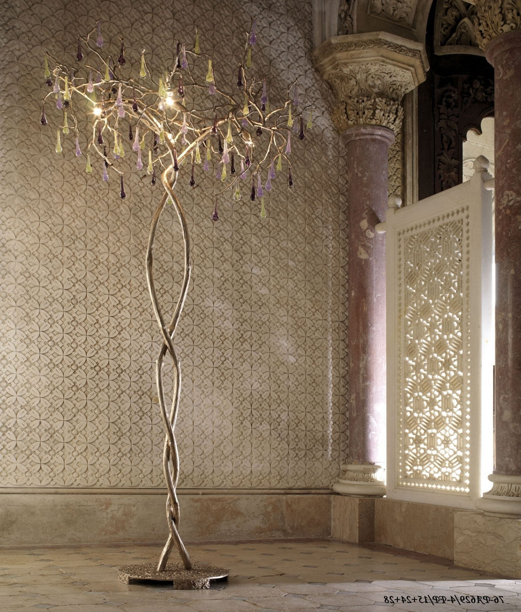 Widely Used Standing Chandelier Floor Lamps In Standing Chandelier Floor Lamp – Pixball (View 15 of 15)