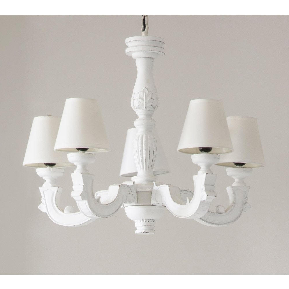 Widely Used White Chandelier With Madeleine White Chandelier (View 15 of 15)