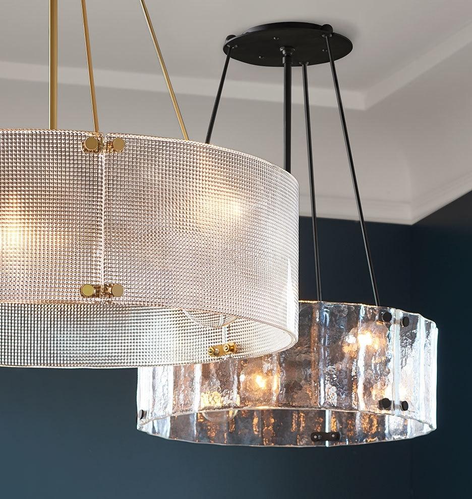 """Willamette 32"""" Diamond Glass Chandelier (View 5 of 15)"""