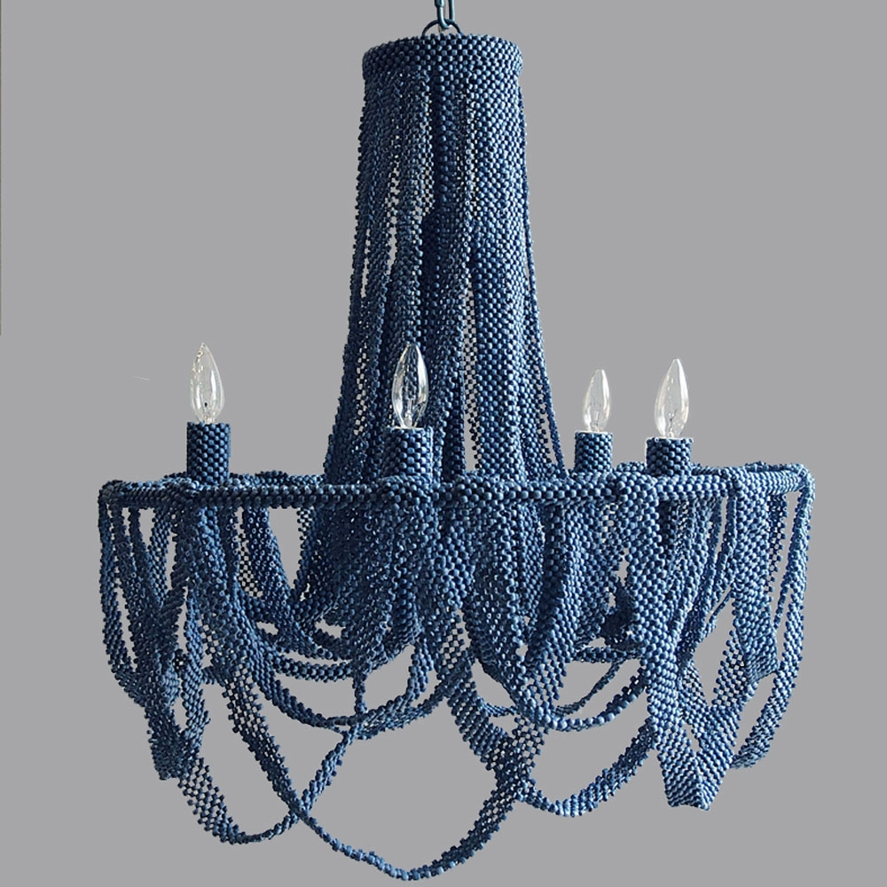 Wonderful Turquoise Beaded Chandelier Pendant Light Design Ideas Intended For Favorite Turquoise Blue Beaded Chandeliers (View 7 of 15)