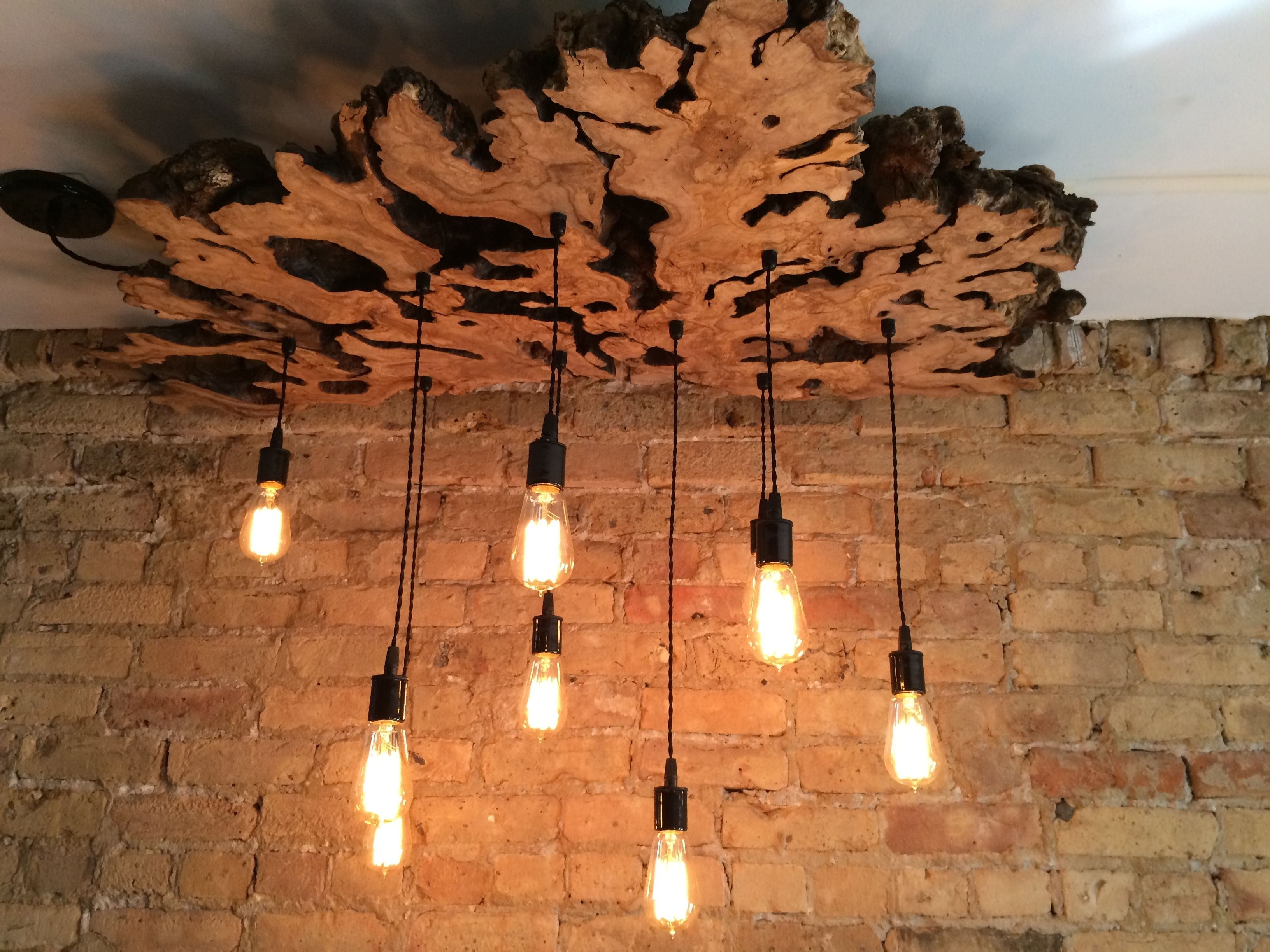 Wooden Chandeliers In Well Known Handmade Extra Large Live Edge Olive Wood Chandelier (View 14 of 15)