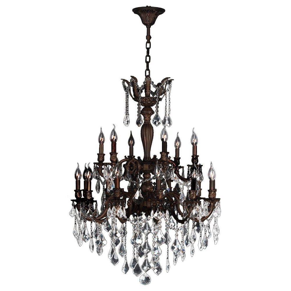 Worldwide Lighting Versailles Collection 18 Light Flemish Brass Throughout Most Popular Flemish Brass Chandeliers (View 13 of 15)